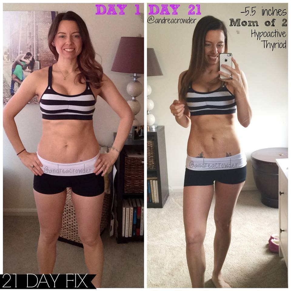 UPDATE::: Here are my 21 Day Fix Results photos!  1904090_10151902257936470_310912127_n